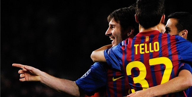 Lionel Messi and Cristian Tello