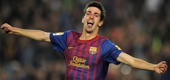 FC Barcelona's forward Isaac Cuenca cele