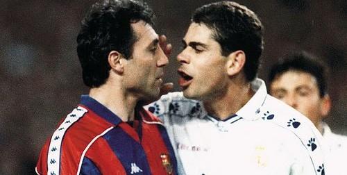 stoichkov-hristo-hierro-fernando-barcelona-real-madrid-classico-superclassico-briga-agressao-confusao-1995-1