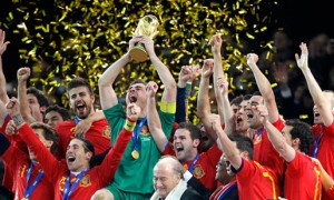 Spain 2010 World Cup celebration